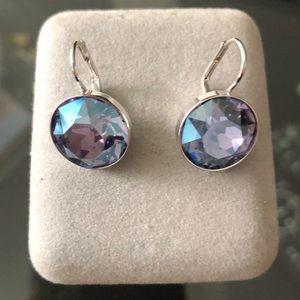 Swarovski Crystal Purple Drop Earrings